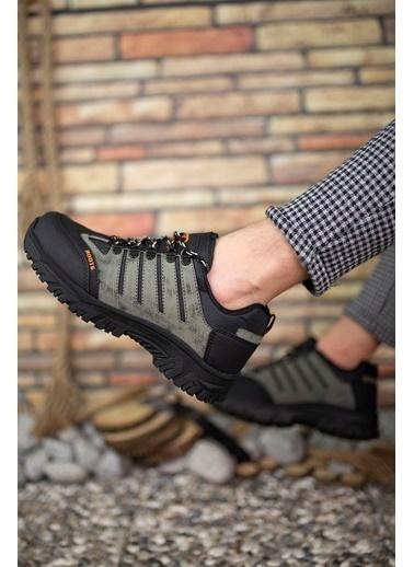 Riccon Haki Siyah Erkek Trekking Ayakkabı 0012115 Haki